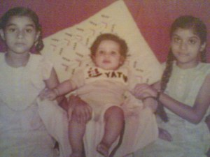 My husband as a baby with his two sisters