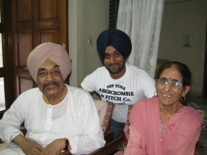 My husband with his parents